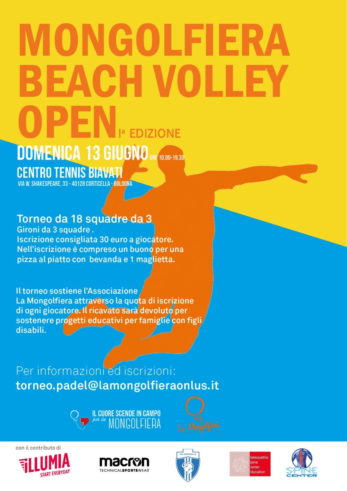 La mongolfiera onlus torneo beach volley open 2021